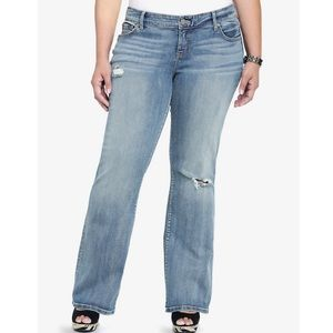 Torrid distressed relaxed cut jeans